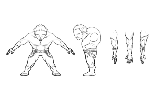 Character Model Sheet _ Ai Zhang